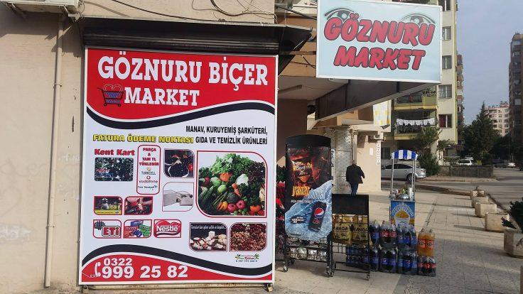 Göznuru market Araz Reklam Katkılarıyla