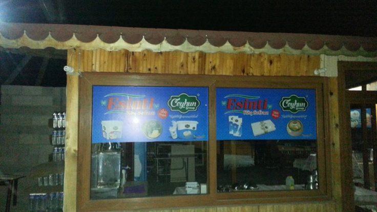 ESİNTİ CAFE KAHVALTI SALONU CAM UYGULAMA