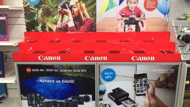 Mersin forum Media Mark Canon Stand imalat ve kurulumu