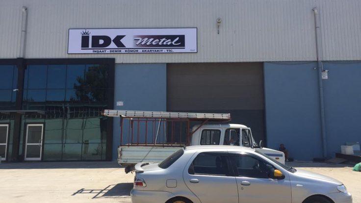 İDK Metal ışıklı ışıksız tabela imalat ve montaj