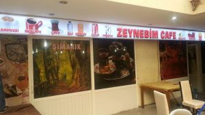 Zeynebim Cafe Işıklı Tabela